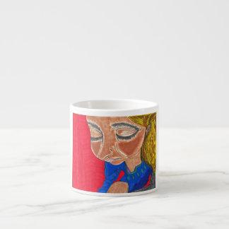 Espresso mug Peace Girl Art by AromanArt