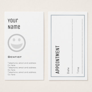 """""""Essential"""" Dentist Appointment Cards"""