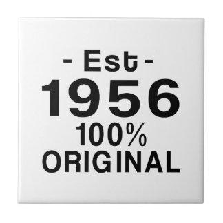 Est. 1956 small square tile