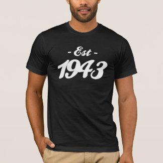 established 1943 - birthday T-Shirt