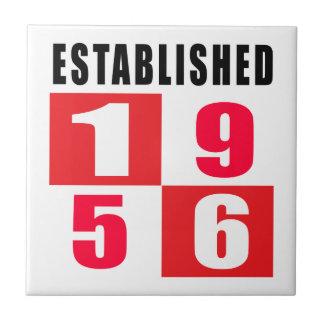 Established 1956 Birthday Designs Ceramic Tile