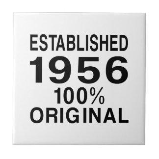 Established 1956 small square tile