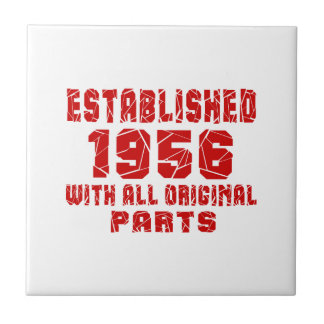 Established 1956 With All Original Parts Small Square Tile