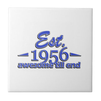 Established in 1956 small square tile
