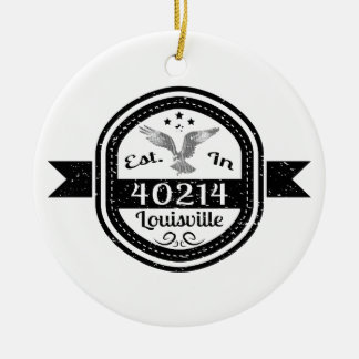 Established In 40214 Louisville Christmas Ornament