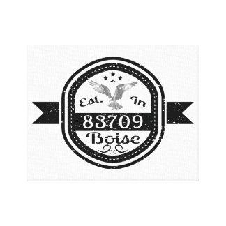 Established In 83709 Boise Canvas Print