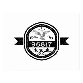 Established In 96817 Honolulu Postcard