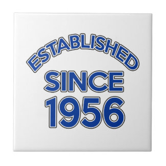 Established Since 1956 Small Square Tile