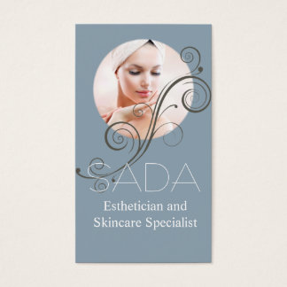 Esthetician and Skincare Specialist, Salon & Spa Business Card