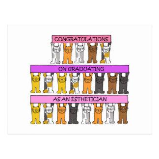 Esthetician Graduate Congratulations Postcard