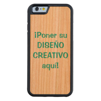 Estuche iPhone 6 de encargo Cherry iPhone 6 Bumper Case