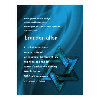 Eternal Flame Star of David in Blue Invites