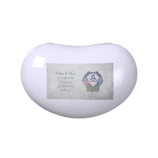Eternity Handfasting White Jelly Belly Favor Tin Candy Tin