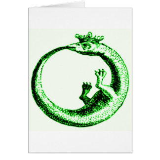 ETERNITY SERPENT VINTAGE PRINT IN GREEN CARD