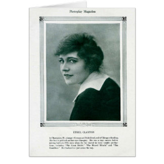 Ethel Clayton 1916 vintage portrait card