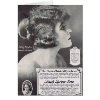 Ethel Clayton 1919 Mascara Ad Card
