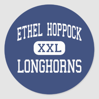 Ethel Hoppock Longhorns Middle Asbury Classic Round Sticker