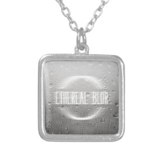 ethereal blur silver plated necklace