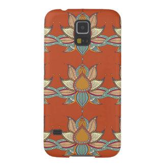 Ethnic flower lotus mandala ornament galaxy s5 cases