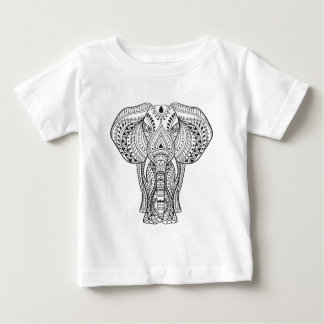 Ethnic Indian Elephant Baby T-Shirt