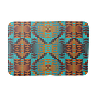 Ethnic Native American Indian Tribal Pattern Bath Mats