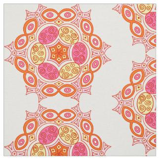 Ethnic orange and pink design fabric