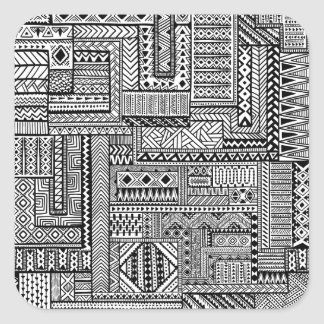 Ethnic Ornament Square Sticker