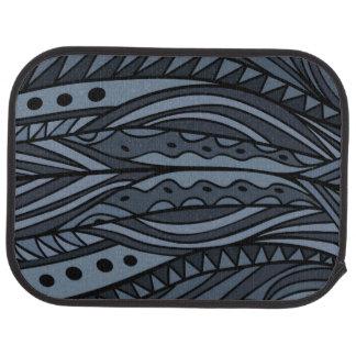 Ethnic pattern in dark colors. car mat