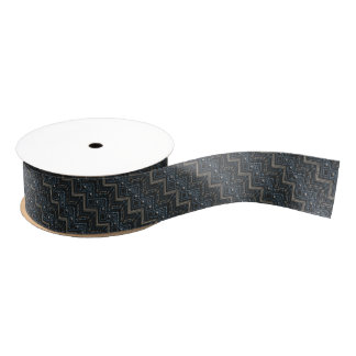 Ethnic pattern with american ornament grosgrain ribbon