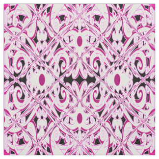 Ethnic Pink Floral design Fabric
