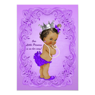 Ethnic Princess Baby Shower Ornate Purple Frame