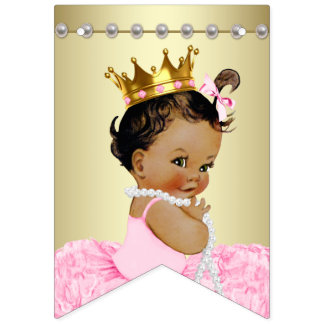 Ethnic Princess Pink Gold Baby Shower Bunting