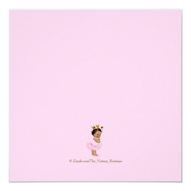 ethnic princess tutu pink gold baby shower card   zazzle, Baby shower invitations