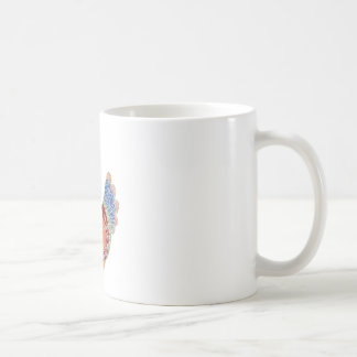 Ethnic rooster colored doodle coffee mug