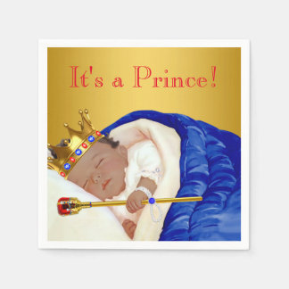 Ethnic Royal Prince Baby Shower Paper Napkin
