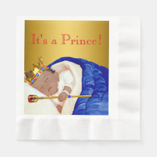 Ethnic Royal Prince Baby Shower Paper Napkins