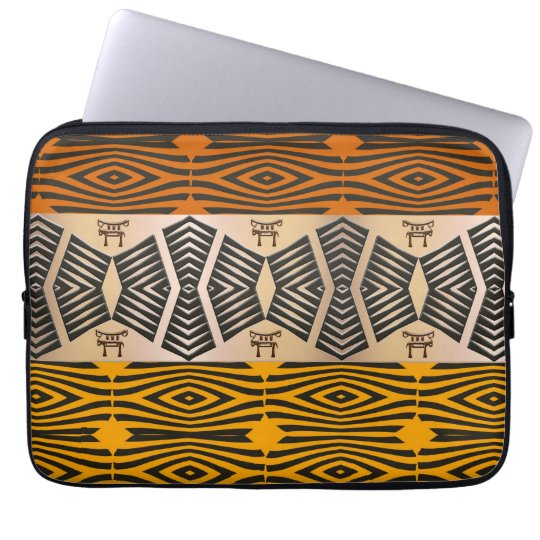 ethnic tribal african pattern laptop computer sleeves