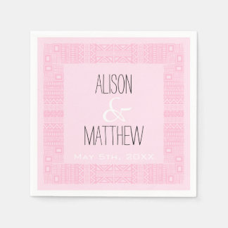 Etnic Design Personalized Wedding Paper Napkins 2