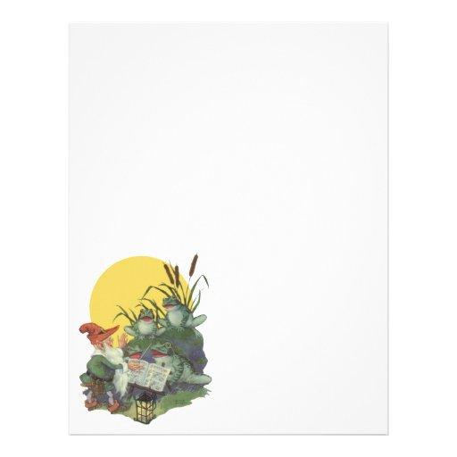 Etude Magazine Cover Art; Frog Choir Flyer Design