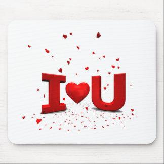 Eu te amo - I love you Mousepads