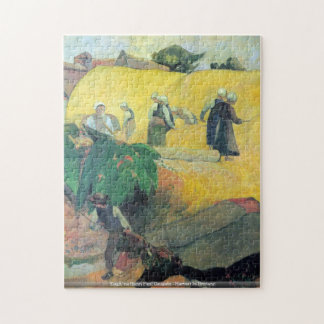 Eugène Henri Paul Gauguin - Harvest In Brittany Jigsaw Puzzles
