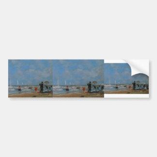 Eugene Boudin- On the Beach Bumper Sticker