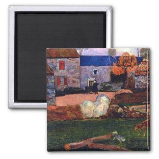 Eugène Henri Paul Gauguin - Farm at the Pouldu Fridge Magnet