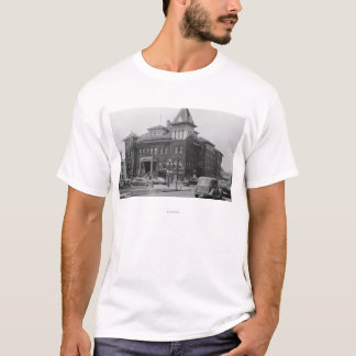 Eugene, Oregon Scene with City Hall Photograph T-Shirt