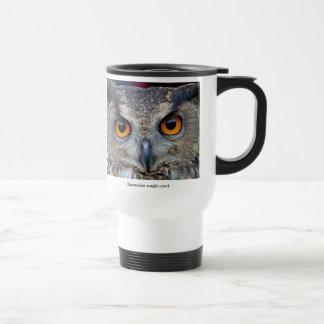 Eurasian Eagle Owl Stainless Steel Travel Mug