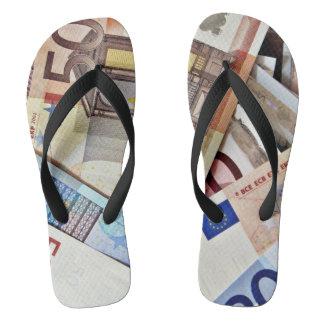 Euro Banknote Footwear Jandals
