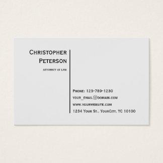 Euro Minimalist Elegant Line Attorney at Law Business Card