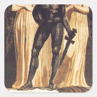 Europe. A Prophecy. William Blake Square Sticker