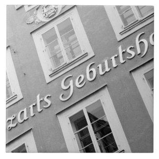 Europe, Austria, Salzburg. Mozart's Birthplace Tile