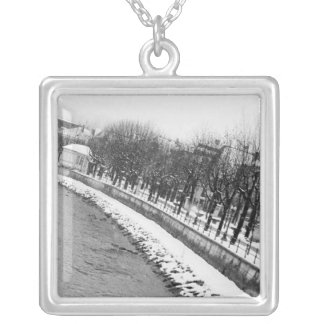 Europe, Austria, Salzburg. The bank of the River Silver Plated Necklace